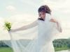Невеста на фоне Волги